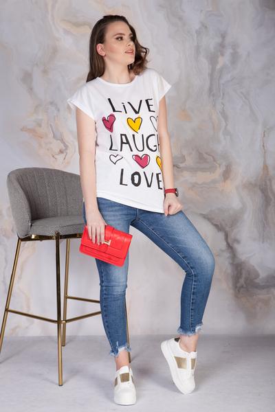 T-SHIRT LIVE LAUGCH LOVE
