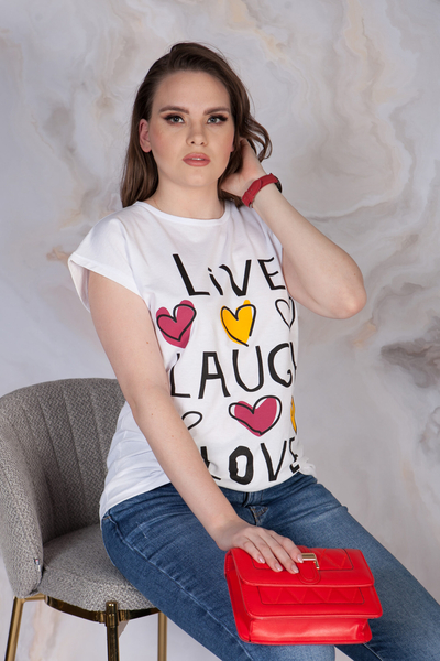 T-SHIRT LIVE LAUGCH LOVE